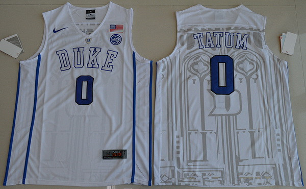 innovative design c3acd 56798 Men's Duke Blue Devils #0 Jayson Tatum Black College ...