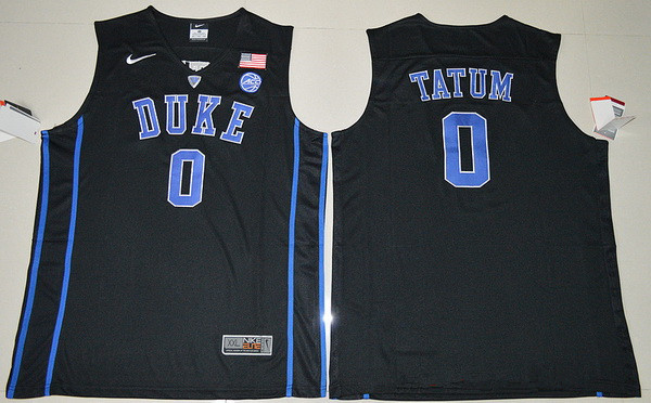Men s Duke Blue Devils  0 Jayson Tatum Black College Basketball Nike  Swingman Stitched NCAA Jersey 1c6932630