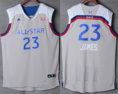 167645b7099b Men s Eastern Conference Cleveland Cavaliers  23 LeBron James adidas Gray  2017 NBA All-Star