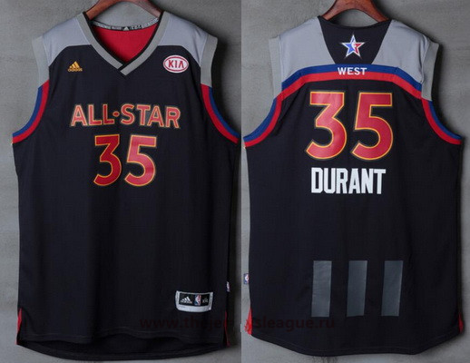 da79eeba3 Men s Western Conference Golden State Warriors  35 Kevin Durant adidas  Black Charcoal 2017 NBA All