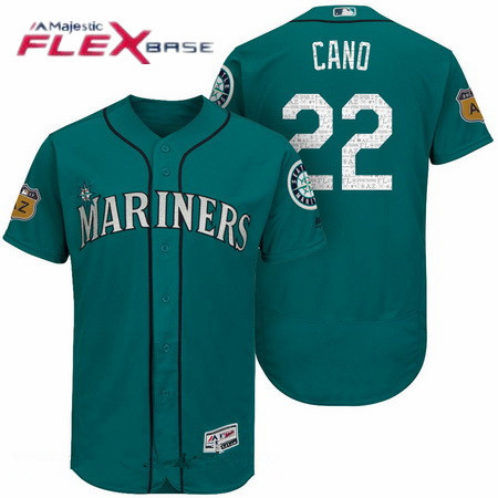 Men's Seattle Mariners #22 Robinson Cano Stitched MLB 2016 Majestic Flex Base Jersey