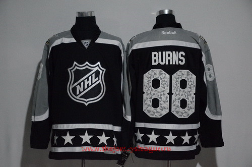 Men's Pacific Division San Jose Sharks #88 Brent Burns Reebok Black 2017 NHL All-Star Stitched Ice Hockey Jersey