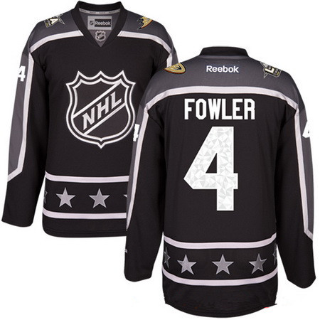 Men's Pacific Division Anaheim Ducks #4 Cam Fowler Reebok Black 2017 NHL All-Star Stitched Ice Hockey Jersey