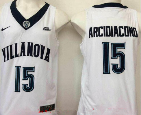 a7b464995e2d Men s Villanova Wildcats  15 Ryan Arcidiacono White College Basketball Nike  Swingman Stitched NCAA Jersey