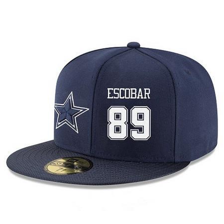 promo code 0501b 49acf Dallas Cowboys #89 Gavin Escobar Snapback Cap NFL Player ...