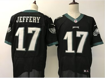 92d18f99 Men's Philadelphia Eagles #17 Alshon Jeffery Black Alternate ...