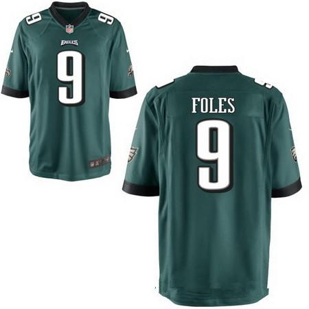 buy popular 028f7 64906 Men's Philadelphia Eagles #9 Nick Foles Midnight Green Team ...