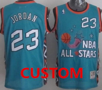 Custom NBA 1996 All-Star Green Swingman Throwback Jersey on sale 64e7b89cc