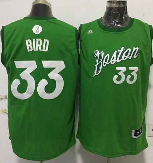 1c531e7705e Men's Boston Celtics #33 Larry Bird adidas Green 2016 Christmas Day  Stitched NBA Swingman Jersey