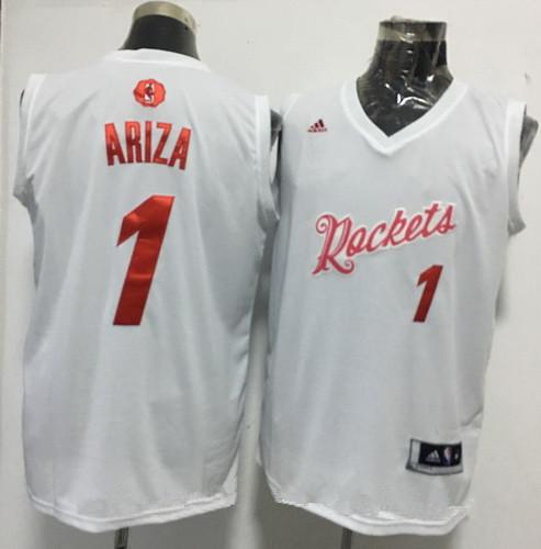 752acd2b4e33 Men s Houston Rockets  1 Trevor Ariza adidas White 2016 Christmas Day  Stitched NBA Swingman Jersey