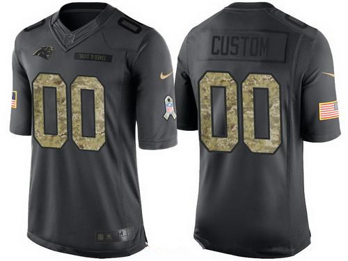 sale retailer abe86 4b920 Men's Carolina Panthers Custom Olive Camo Salute To Service ...