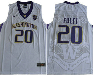 Men's Washington Huskies #20 Markelle Fultz White College Basketball 2017 Nike Swingman Stitched NCAA Jersey