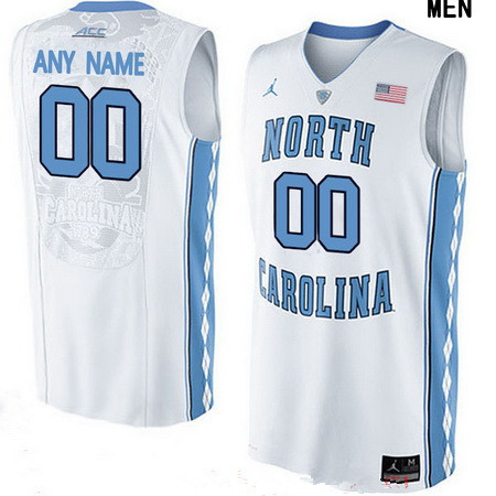 Men s North Carolina Tar Heels Custom Brand Jordan College Basketball Jersey  - White 14d787b948