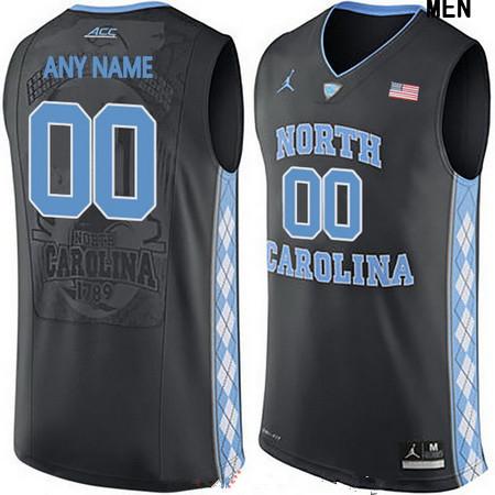 Men's North Carolina Tar Heels Custom Brand Jordan College Basketball Jersey - Black