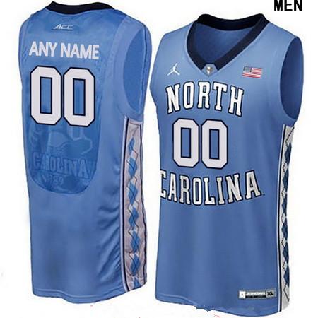 Men's North Carolina Tar Heels Custom Brand Jordan College Basketball Jersey - Light Blue