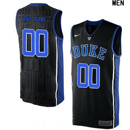 Youth Duke Blue Devils Custom V-neck College Basketball Nike Elite Jersey - Black