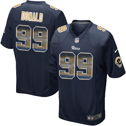Cheap Men's Los Angeles Rams #30 Todd Gurley Nike Gold Color Rush Limited  for sale