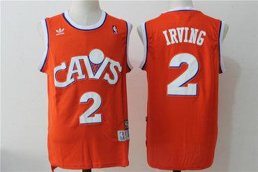reputable site d35c0 286b4 Men's Cleveland Cavaliers #2 Kyrie Irving Orange Hardwood ...