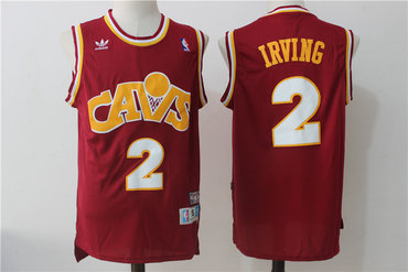 661c670f7 Men s Cleveland Cavaliers  2 Kyrie Irving Burgundy Hardwood Classics Soul  Swingman Throwback Jersey