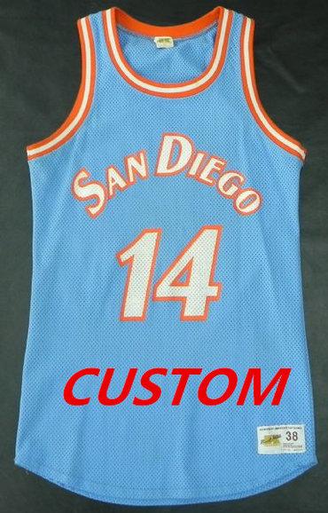 Custom MITCHELL   NESS NBA THROWBACK SAN DIEGO CLIPPERS Powder Blue Jersey ed95eb12c
