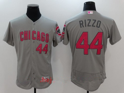 23f7ee43e10 Men s Chicago Cubs  44 Anthony Rizzo Gray with Pink Mother s Day Stitched  MLB Majestic Flex Base Jersey
