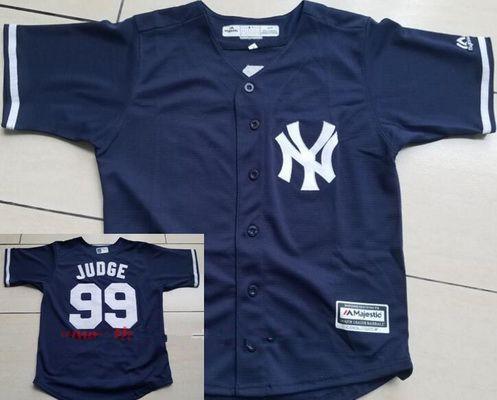 c360026e8da Men's New York Yankees #99 Aaron Judge Navy Blue Alternate Stitched MLB Majestic  Cool Base Jersey