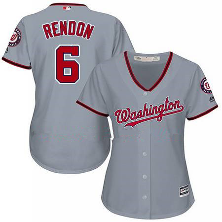 womens majestic washington nationals 6 anthony rendon authentic grey road cool base mlb jersey