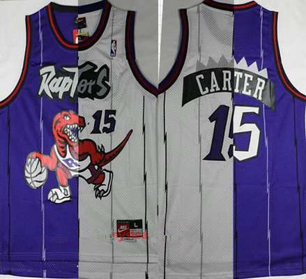 cfcd1e39d Men s Toronto Raptors  15 Vince Carter Purple White Two Tone Stitched NBA  Hardwood Classic Swingman