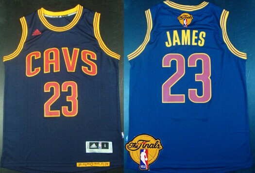 2fc294c82 Men s Cleveland Cavaliers  23 LeBron James 2017 The NBA Finals Patch Navy  Blue Jersey