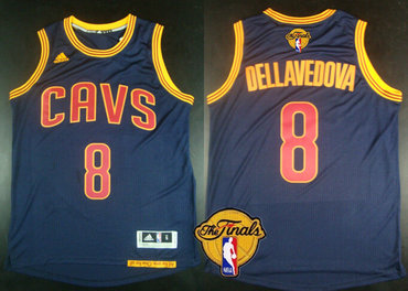 db3f1d0ff Men s Cleveland Cavaliers  8 Matthew Dellavedova 2017 The NBA Finals Patch  Navy Blue Jersey