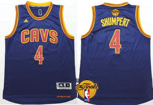 01de174fa Men s Cleveland Cavaliers  4 Iman Shumpert 2017 The NBA Finals Patch Navy  Blue Jersey