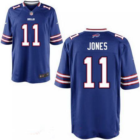 Men's 2017 NFL Draft Buffalo Bills #11 Zay Jones Royal Blue Team ...