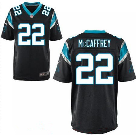 Men s 2017 NFL Draft Carolina Panthers  22 Christian McCaffrey Black Team  Color Stitched NFL Nike 31a288d13