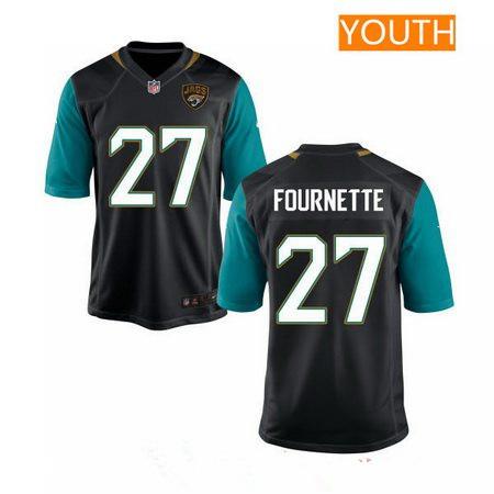 2e8d79755 Youth 2017 NFL Draft Jacksonville Jaguars  27 Leonard Fournette Black  Alternate Stitched NFL Nike Game
