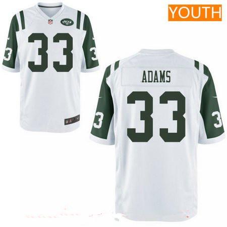 jamal adams white jets jersey