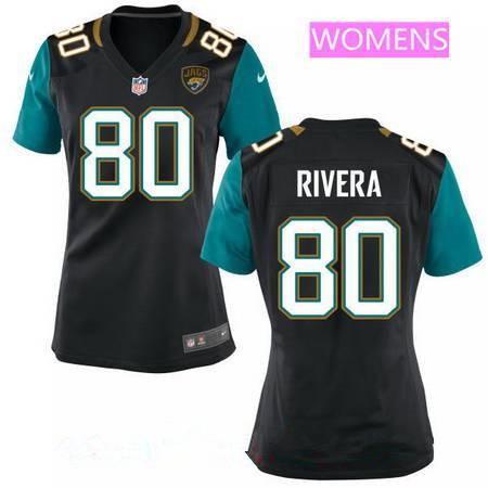 Women's Jacksonville Jaguars #80 Mychal Rivera Black Alternate ...