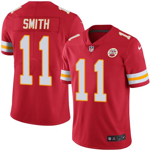 Nike Chiefs #11 Alex Smith Red Team Color Men's Stitched NFL Vapor Untouchable Limited Jersey
