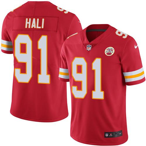Nike Kansas City Chiefs #91 Tamba Hali Red Team Color Men's Stitched NFL Vapor Untouchable Limited Jersey