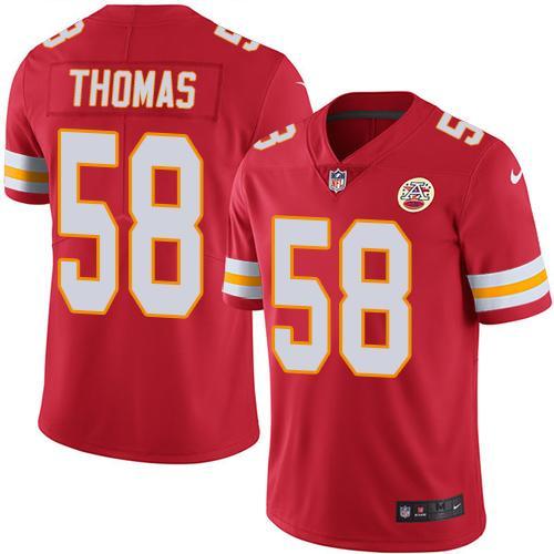 Nike Kansas City Chiefs #58 Derrick Thomas Red Team Color Men's Stitched NFL Vapor Untouchable Limited Jersey