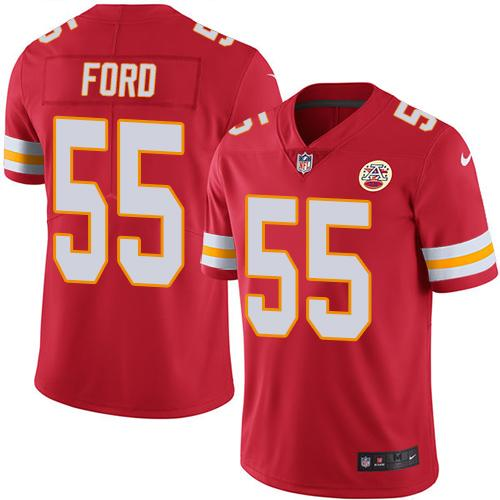 Nike Chiefs #55 Dee Ford Red Team Color Men's Stitched NFL Vapor Untouchable Limited Jersey