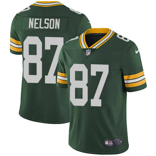 Nike Green Bay Packers #87 Jordy Nelson Green Team Color Men's ...