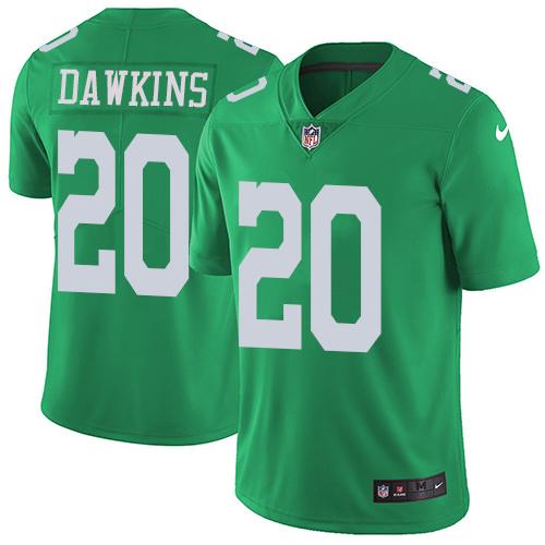 Nike Philadelphia Eagles #20 Brian Dawkins Green Men's Stitched ...