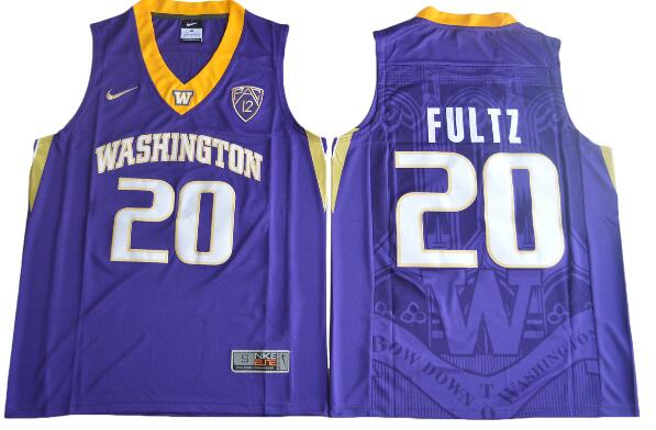 Men's Washington Huskies #20 Markelle Fultz Purple College Basketball 2017 Nike Swingman Stitched NCAA Jersey