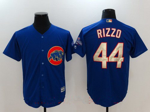 super popular f4c9d 0e6fc Men's Chicago Cubs #44 Anthony Rizzo Royal Blue World Series ...