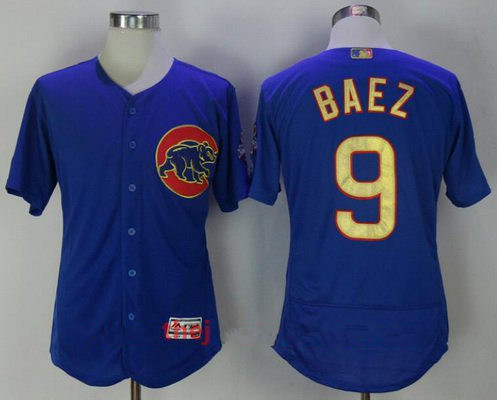 the best attitude c82d0 cda39 Men's Chicago Cubs #9 Javier Baez Royal Blue World Series ...