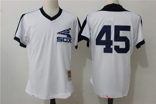 uk availability 427d2 794ae Men's Chicago White Sox #45 Michael Jordan White Throwback ...