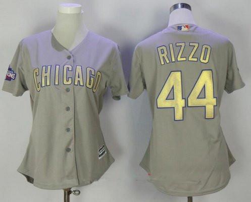 competitive price 692d3 320de Women's Chicago Cubs #9 Javier Baez Gray World Series ...