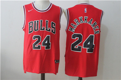 newest d5375 cd903 Chicago Bulls 24 Lauri Markkanen Red Nike Stitched Jersey on ...