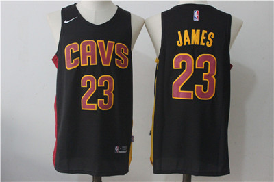 new styles baa36 03e5e Cleveland Cavaliers #23 LeBron James Navy Nike Stitched ...