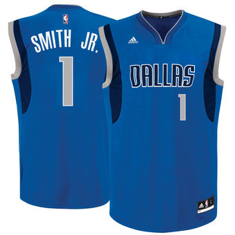 Men s Dallas Mavericks  1 Dennis Smith Jr. adidas Blue 2017 NBA Draft Pick  Replica 7795684c1